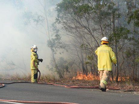 Firefighters at a blaze on Torquay Tce.