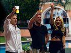 Big Brother's 2014 finalists Ryan Ginns, Travis Lunardi and Skye Wheatley.