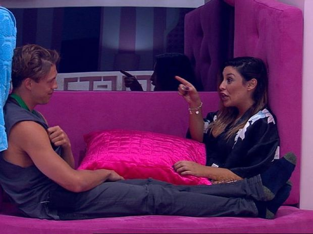 2014 Big Brother housemates Ryan Ginns and Katie Schepis. Supplied by Channel 9.