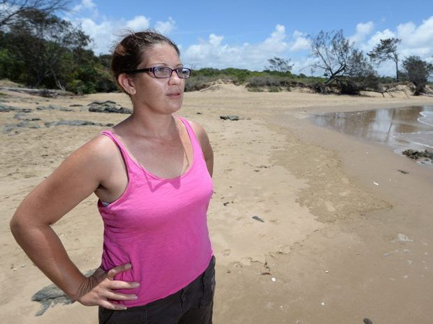 Trish (no surname given) is grateful to a stranger who rescued her stepson who got into difficulty while swimming off Lammemoor Beach earlier this month.