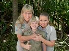 Robert Irwin celebrates his 11th birthday at Australia Zoo wil his mum Terri and sister Bindi. Robert unveiled a scultpure of a Smilodon created by Cameron Chapman. Photo: Warren Lynam / Sunshine Coast Daily