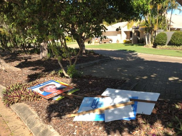 SIGN CITY: Election signs will litter city if LNP court challenge gets up, warns Cr Paul Tully.