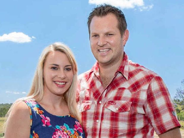 MOVING IN: First home buyers Dean and Kimberley Morgan have bought land at Providence.