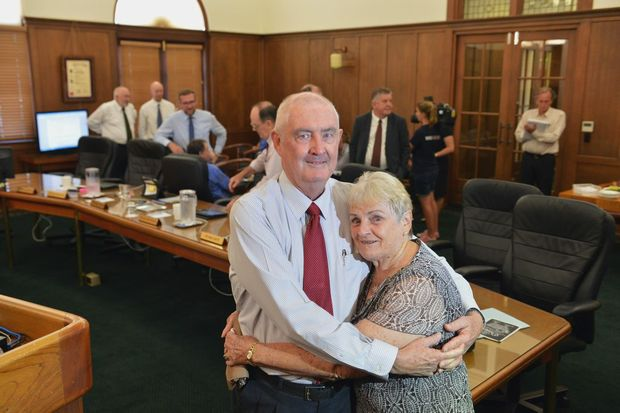 Gympie Regional Council Mayor, Ron Dyne, announces his resignation due to ailing health. Farewell to Mayor Ron Dyne with his wife Dulcie. Photo: Greg Miller / Gympie Times