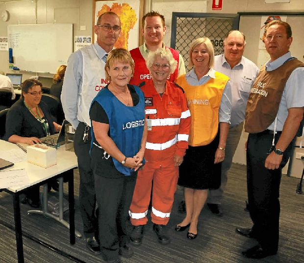 DEDICATED: The Lockyer Valley Disaster Co-ordination Centre was in full swing last week for a training exercise.