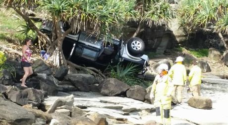 Car rollover at Kings Beach