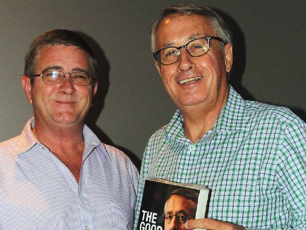 COMRADES IN ARMS: Former Federal Treasurer and Deputy Prime Minister Wayne Swan (right) and Labor candidate Stephen Meredith.