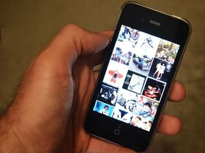 An Instagram feed shown on an iPhone 4s.