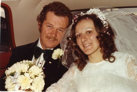 YOUNG LOVE: Steve and Lois on their wedding day in 1973.
