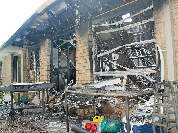 DESTROYED: An East Ballina couple have lost everything after a fire gutted their Antrim St home in the early hours of yesterday morning.