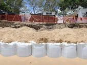 ALL eyes will be on Hervey Bay's beaches as the Fraser Coast Regional Council waits and hopes its sandbags will hold back the sea in foul conditions.