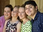 CHORAL CHOIR: Looking forward to Gondwana National Choral School 2015, Sophie McHardy, Sophie Little, Jasmine Zuyderwyk and Anthony Patsalou Photo Bev Lacey / The Chronicle