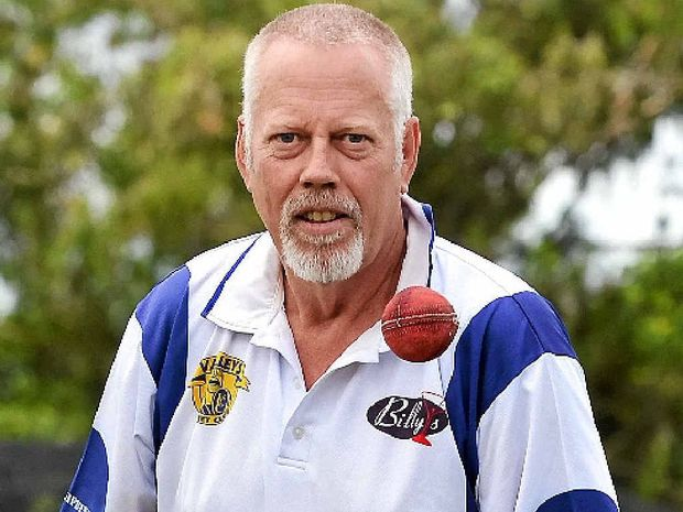 ON THE BALL: Gympie cricketer Eric Streat will travel to New Zealand next month as part of the Australian over-60 side.