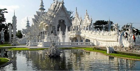 "PLACE TO VISIT: The Wat Rong Khun, known to foreigners as the ""White Temple"" is a privately owned, art-exhibit in the style of a Buddhist temple in Chiang Rai Province, Thailand."