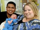 Rockhampton family welcomes the new year with the birth of their first son.