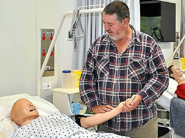 HELPING HAND: Nursing student Richard MacDonald.