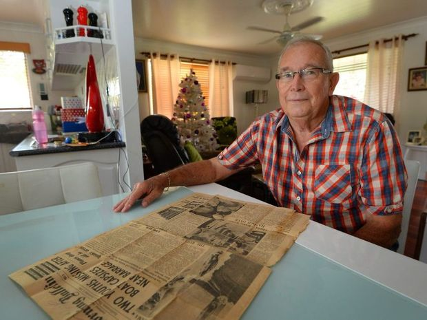 Rob Nebe rescued a teenager from the barrage when he was a fire officer back in the 1960s. Photo: Chris Ison / The Morning Bulletin