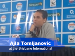 Ajla Tomljanovic at the Brisbane International