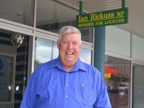 LNP MP Ian Rickuss dismisses Pauline Hanson's concerns about coal seam gas.