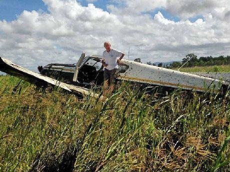 SHAKEN: Buddina's Derek Townsend and Tracey Young were a little shaken but unhurt after having to make an emergency landing.