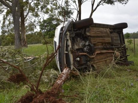 A Toowoomba teen escaped from this crash without injury.