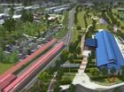 A screenshot from the 3D flyover of the Toowoomba Railway Parklands