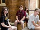 Ciara Condren, Harry Paroz, Evi Ruzsicska and Mark Mackenzie are part of the Empire Youth Arts IMPACT ensemble's Talking to Brick Walls production.