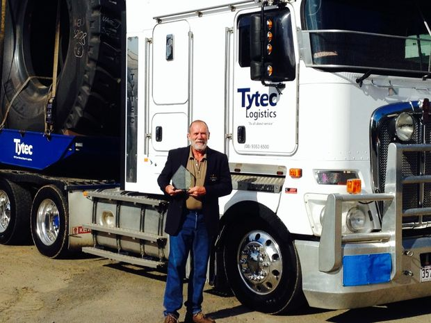 Aaron Busk who won NatRoad's Professional Driver of the year award last year, is a finalist for this year's National Trucking Industry Awards.