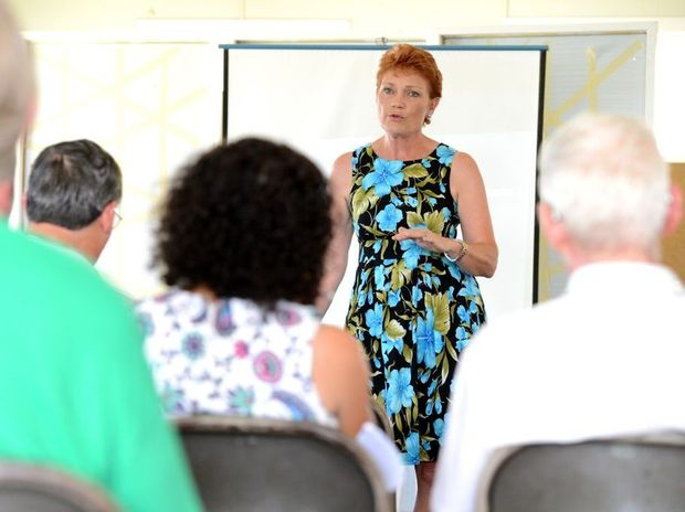 CAMPAIGNER: Pauline Hanson on the hustings in Gatton and buoyed by KAP deal.