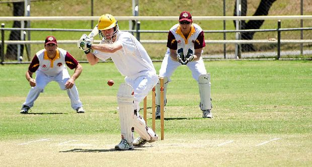 DOWN AND OUT: Gympie Gold XI all-rounder Trevor Brady will likely be out for the remainder of the season after an accident with a chainsaw. He exits as the side goes to the one-day final.