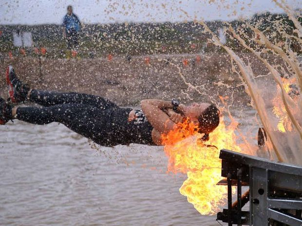 FIRE AND MUD: Tough Mudder looks to have done its dash on the Coast for now.