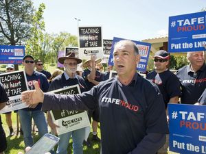 TAFE teachers protest