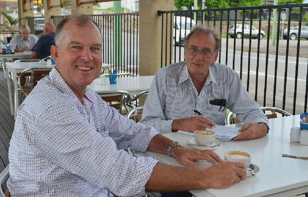 COFFEE BREAK: Tony Perrett talks about the demands of the State Election campaign as he takes a break for coffee with reporter Arthur Gorrie.