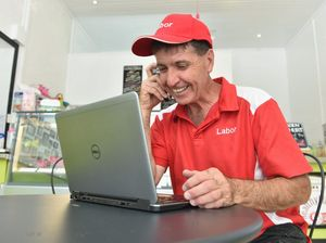 Maryborough ALP candidate Bruce Saunders
