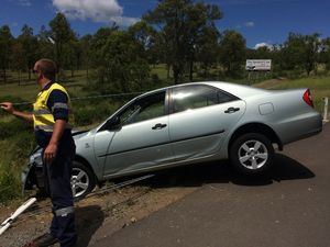 Mum and baby safe after Warrego Hwy crash