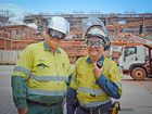 Craig Holt and Greg Meyer are two of six Queensland Alumina Ltd workers who began as apprentices 35 years ago. They hope to pass on a few tips to the next generation of apprentices.