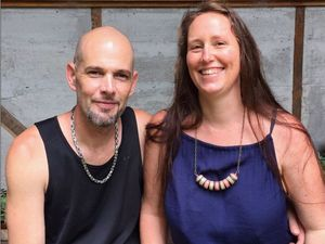 NEW FROM OLD: Local husband and wife team, Ellie Beck and Sam Messina, make jewellery out of recycled skateboards.