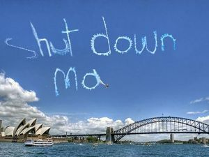 Activists take to the skies to protest detention