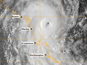 Cyclone Marcia forecast to cross coast as category five