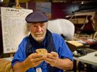 OCARINA MAKER: Graham Stewart takes the Ocarina making class at the Have a go festival at Cobb+Co museum. Saturday, Feb 21, 2015 . Photo Nev Madsen / The Chronicle