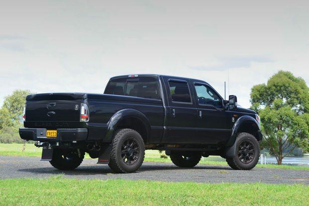 harrison f trucks superduty black ops bad boy flexes muscle sunshine coast daily. Black Bedroom Furniture Sets. Home Design Ideas
