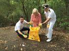 Councillors Andrew Antoniolli, Heather Morrow and TS Ipswich Australian Navy Cadets' executive officer Paul Andrews encourage the community to join Clean Up Australia Day efforts on Sunday.