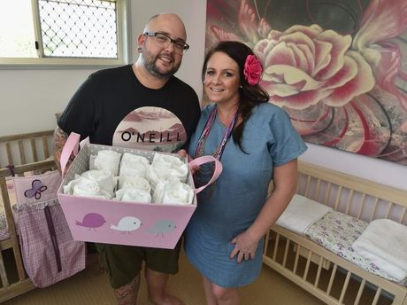 Dan and Steph Mulheron in the nursery they've prepared in their Scarness home.