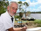 Retired boatie Hugh Hunter was rescued from his boat (pictured in background) when it started taking on water during Cyclone Marcia. Photo Sharyn O'Neill / Morning Bulletin
