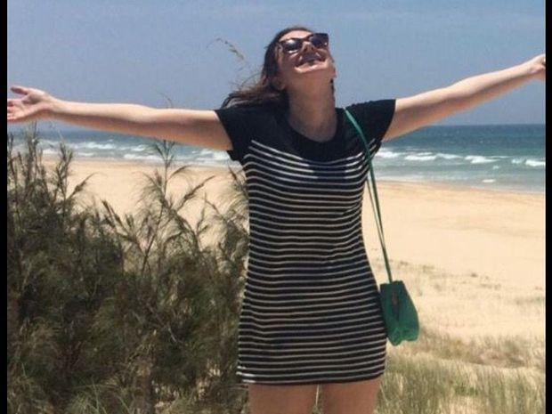 British backpacker Jade Fox enjoying her holiday on Fraser Island before she died in a four-wheel drive rollover.