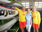 GIRL POWER: Lifesavers Julie Davis, Shirley Holden and Leigh Schuch will celebrate the role of women in surf lifesaving on International Women's Day this Sunday. Photo: Max Fleet / NewsMail