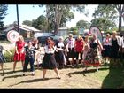 Residents and staff at Lismore's Caroona UnitingCare dance against dementia.