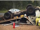 Lucky truck driver escapes notorious highway stretch