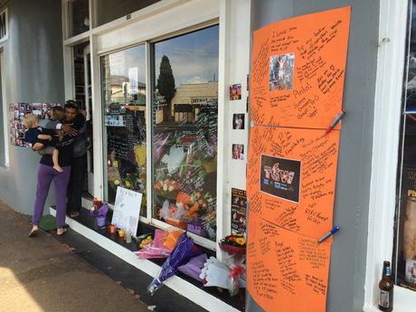 Tributes left outside Smithy's Gym for boxer Braydon Smith.