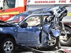 CRASH CHAOS: Hume Street near the corner of James Street was closed after a six vehicle crash. Several people were transported to hospital. Photo Bev Lacey / The Chronicle